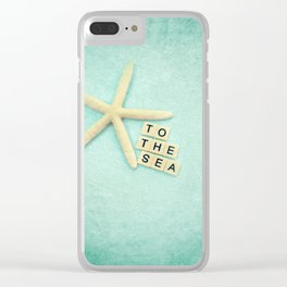 to the sea Clear iPhone Case