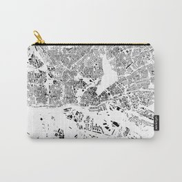 Hamburg Map Schwarzplan Only Buildings Carry-All Pouch