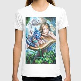 Alice and blue caterpillar T-shirt