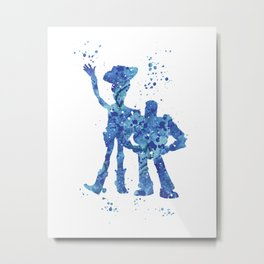 Woody and Buzz Toy Story Disneys Metal Print