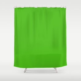 Kelly Green - solid color Shower Curtain