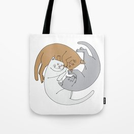 Spiral cats Tote Bag
