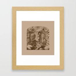 McKinley and Roosevelt Framed Art Print