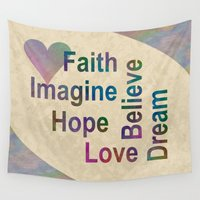 inspirational Wall Tapestries featuring Inspirational by LLL Creations