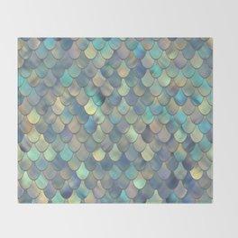 Mermaid Sea Shell Iridescent Throw Blanket