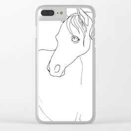 Horse, line drawing Clear iPhone Case