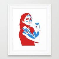 feminism Framed Art Prints featuring Feminism by DebbieHughes