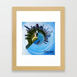Planet Chicago Framed Art Print