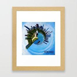 Planet Chicago Framed Art Print