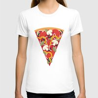 miles davis T-shirts featuring PIZZA POWER - VEGO VERSION by Daisy Beatrice