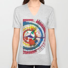 Colorful Spin Unisex V-Neck