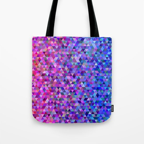 Pink and blue triangles Tote Bag