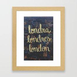 LONDRA/LONDRES Framed Art Print