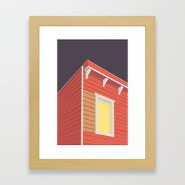 RØDE HUS Framed Art Print