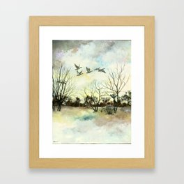 Winter Canada Geese Framed Art Print