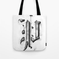 pi Tote Bags featuring Pi by Resistenza