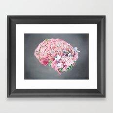 Floral Anatomy Brain Framed Art Print