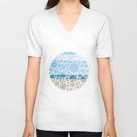 boats V-neck T-shirts featuring Boats by Veselka Hadzieva