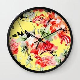 Happiness #society6 #decor #buyart Wall Clock