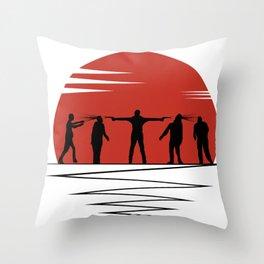 Zombie Controol (Moon headshot) Throw Pillow