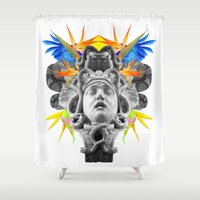 medusa Shower Curtains featuring MEDUSA by SIMONE S.C.H.