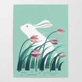 Rabbit, Resting Poster