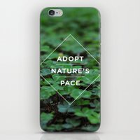 lee pace iPhone & iPod Skins featuring Adopt Nature's Pace by Ashley Herrin