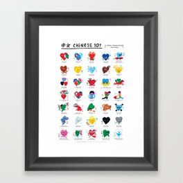 Chinese 101 Framed Art Print