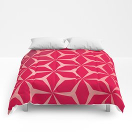 Flowers and geometry in pink Comforters