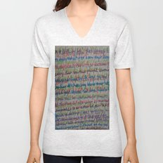 Handwriting on the Wall Unisex V-Neck