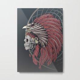 Eagle Skull Metal Print