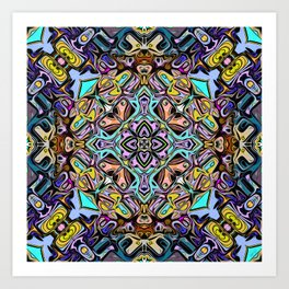 Abstract Stained Glass Art Print