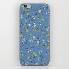 floral vines - blues iPhone & iPod Skin