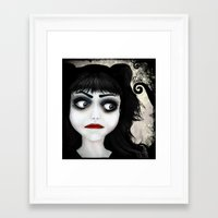 eugenia loli Framed Art Prints featuring Dear little doll series... EUGENIA by Rouble Rust
