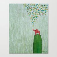 baby elephant Canvas Prints featuring Baby Elephant by Davs