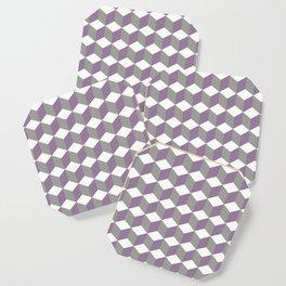 Diamond Repeating Pattern In Crocus Purple and Grey Coaster