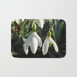 Snowdrops in the Sun Bath Mat