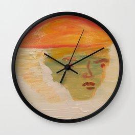 Women Under the Mountain Wall Clock