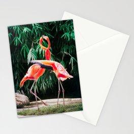 Flamingo Dance (Color) Stationery Cards