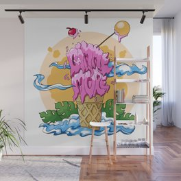 Gimme More Ice Cream! Wall Mural