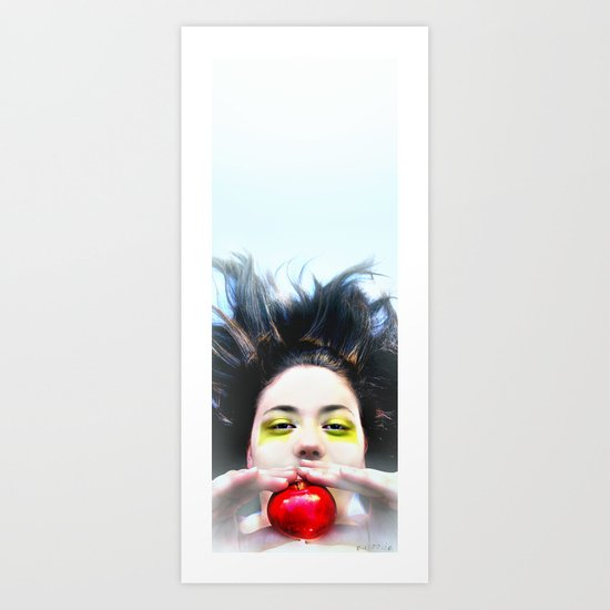 """Eve and Fruit"" (apple) Art Print"