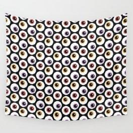 Pixel Eyeballs Wall Tapestry
