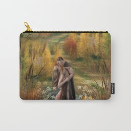 Orange twighlight romantic couple nature surrealism digital art Carry-All Pouch