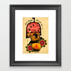 Don't Forget who You Are Framed Art Print