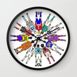 Soccer Backs Wall Clock