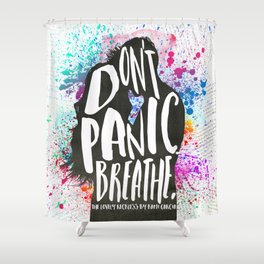 [Exclusive] - The Lovely Reckless - Don't Panic Shower Curtain