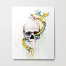 Adventure through Time and Face Metal Print
