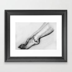 woman legs Framed Art Print