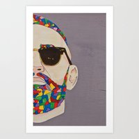 grafitti Art Prints featuring grafitti art by Kristina Jovanova