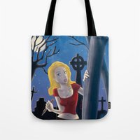 buffy Tote Bags featuring Buffy by TeeNa Stone